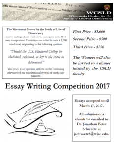 Poster for 2017 essay contest.