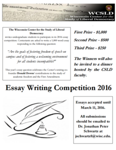 Poster for 2016 essay contest.